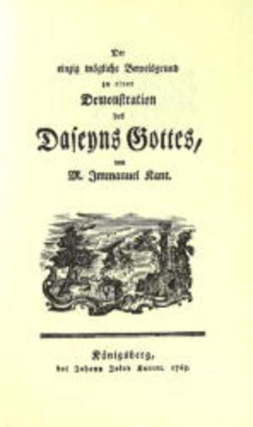 Der einzig mögliche Beweisgrund zu einer Demonstration des Daseyns Gottes - Coverbild
