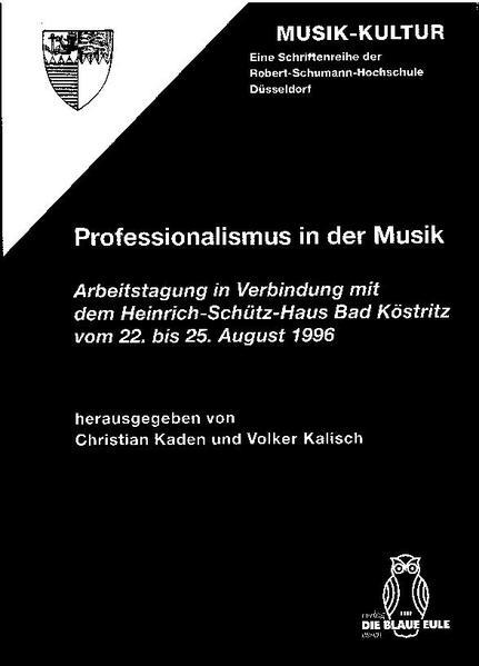 Professionalismus in der Musik - Coverbild