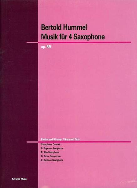 Musik für Saxophone - Coverbild