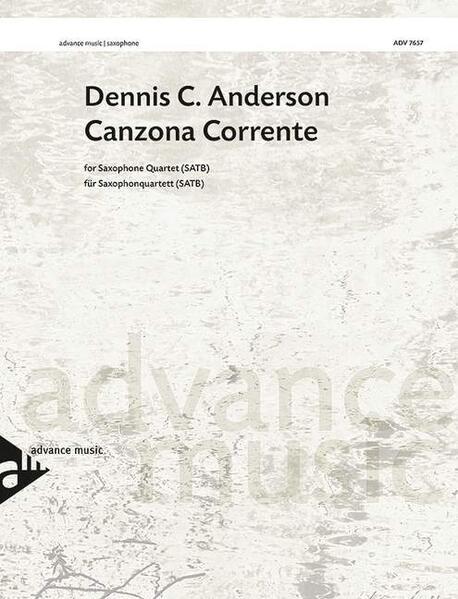 Canzona Corrente - Coverbild