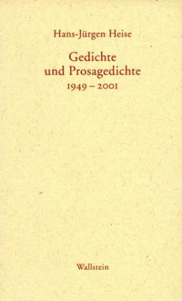 Gedichte und Prosagedichte 1949-2001 - Coverbild