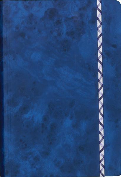 Die Bibel - kleinere Taschenausgabe (blau, Balacron, Gummiband) - Coverbild