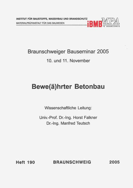 Braunschweiger Bauseminar 2005: 10. und 11. November - Coverbild