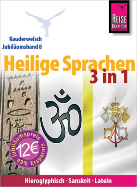 Reise Know-How Sprachführer Heilige Sprachen 3 in 1: Hieroglyphisch, Sanskrit, Latein - Coverbild