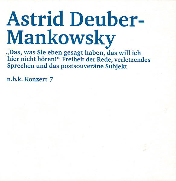 Astrid Deuber-Mankowsky - Coverbild