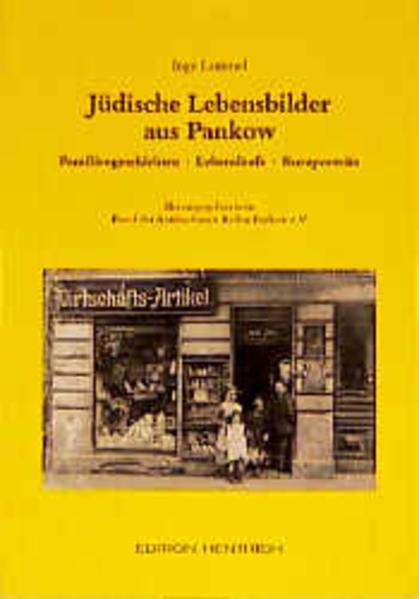 Jüdische Lebensbilder aus Pankow - Coverbild