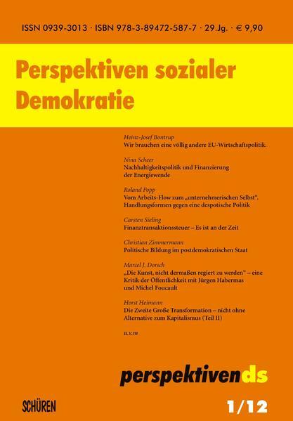 Perspektiven sozialer Demokratie - Coverbild