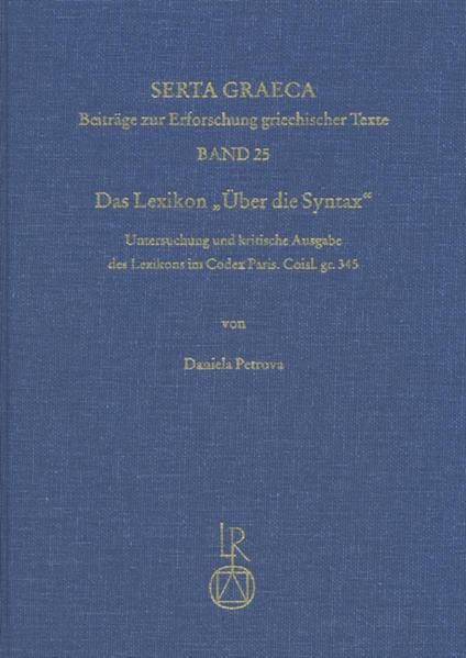 Das Lexikon »Über die Syntax« - Coverbild