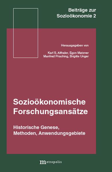 Sozioökonomische Forschungsansätze - Coverbild