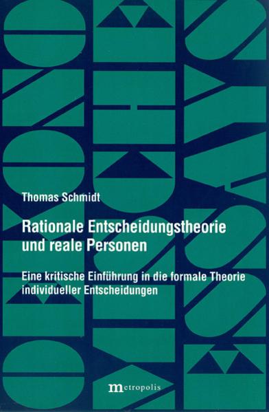 Rationale Entscheidungstheorie und reale Personen - Coverbild