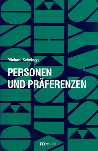 Personen und Präferenzen - Coverbild
