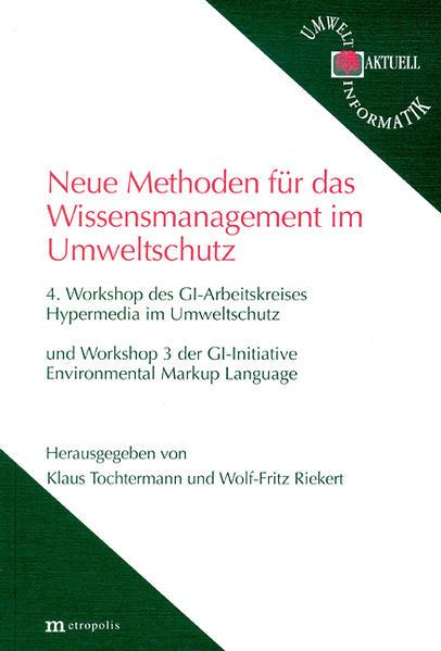 Neue Methoden für das Wissensmanagement im Umweltschutz - Coverbild