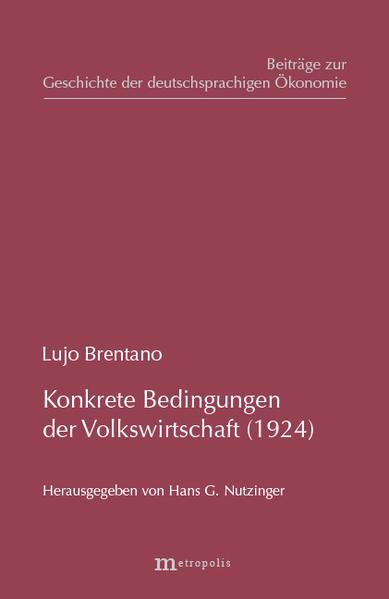 Konkrete Grundbedingungen der Volkswirtschaft (1924) - Coverbild