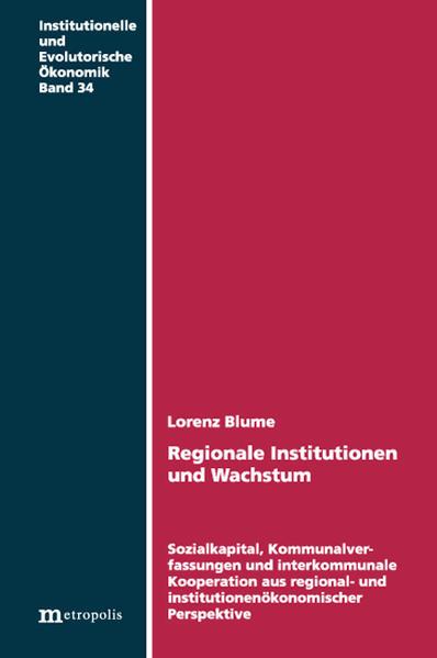 Regionale Institutionen und Wachstum - Coverbild