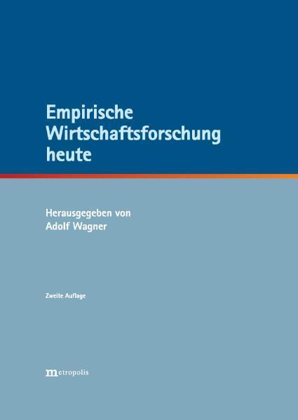 Empirische Wirtschaftsforschung heute - Coverbild