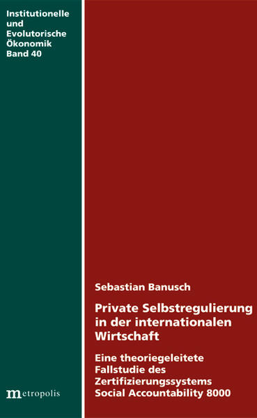 Private Selbstregulierung in der internationalen Wirtschaft - Coverbild