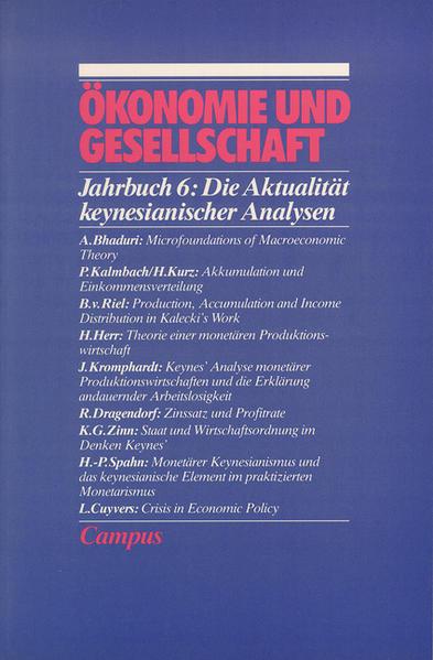Ökonomie und Gesellschaft / Die Aktualität keynesianischer Analysen - Coverbild
