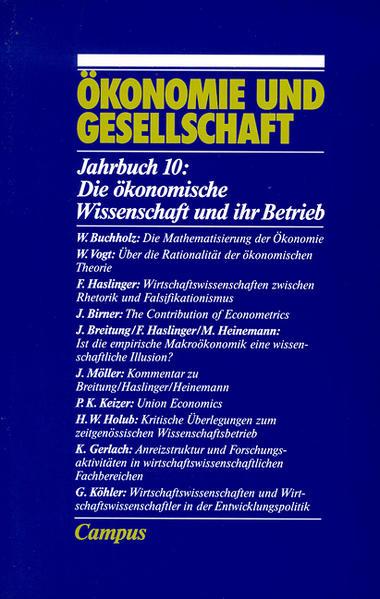 Ökonomie und Gesellschaft / Die ökonomische Wissenschaft und ihr Betrieb - Coverbild