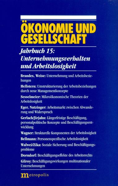 Ökonomie und Gesellschaft / Unternehmungsverhalten und Arbeitslosigkeit - Coverbild