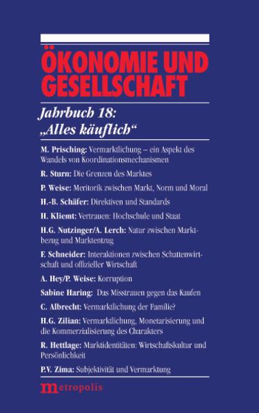 Ökonomie und Gesellschaft / Alles käuflich - Coverbild