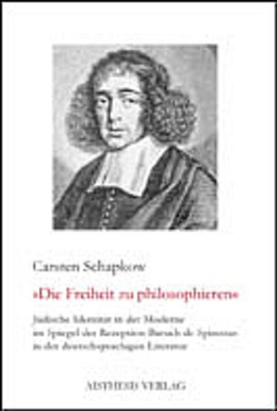 Jüdische Identität in der Moderne im Spiegel der Rezeption Baruch de Spinozas in der deutschsprachigen Literatur - Coverbild