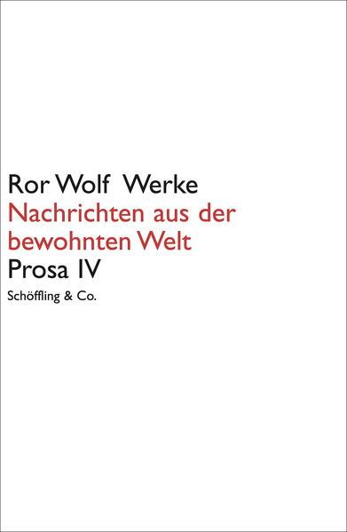 Ror Wolf Werke / Nachrichten aus der bewohnten Welt - Coverbild