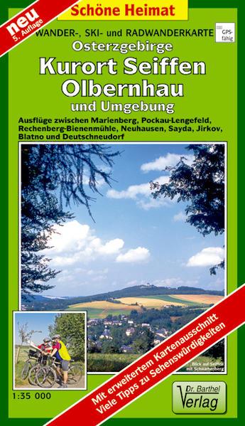 Wander- Ski- und Radwanderkarte Osterzgebirge, Kurort Seiffen und Umgebung - Coverbild