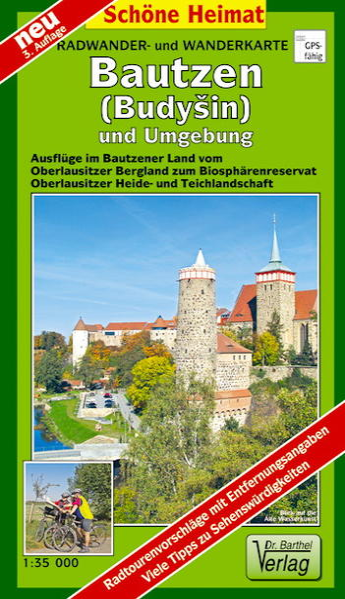 Radwander- und Wanderkarte Bautzen und Umgebung - Coverbild