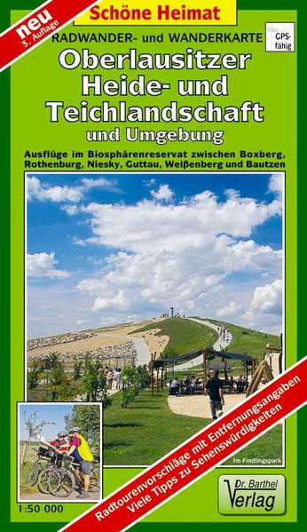 Radwander- und Wanderkarte Oberlausitzer Heide- und Teichlandschaft und Umgebung - Coverbild
