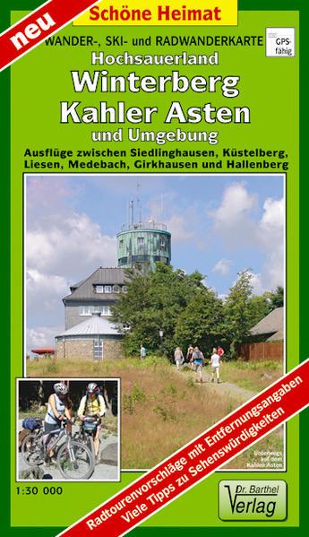 Wander-, Ski- und Radwanderkarte Hochsauerland, Winterberg, Kahler Asten und Umgebung - Coverbild