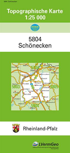 TK25 5804 Schönecken - Coverbild