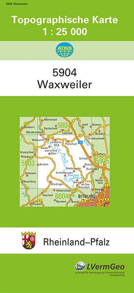 TK25 5904 Waxweiler - Coverbild