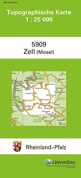 TK25 5909 Zell (Mosel) - Coverbild