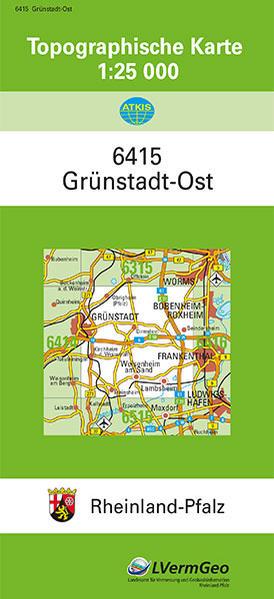 TK25 6415 Grünstadt-Ost - Coverbild