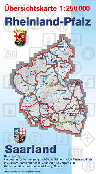 Übersichtskarte Rheinland-Pfalz/Saarland 1:250 000 - Coverbild