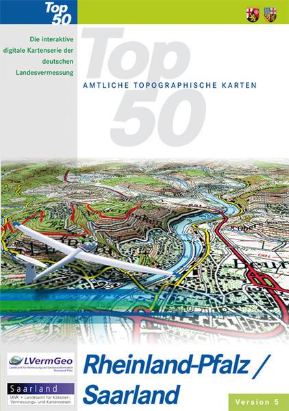 TOP 50 Rheinland-Pfalz /Saarland 5.O mit interaktivem Bildflug - Coverbild
