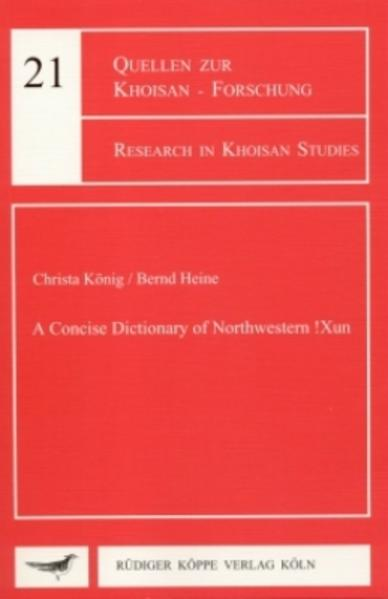 A Concise Dictionary of Northwestern !Xun - Coverbild