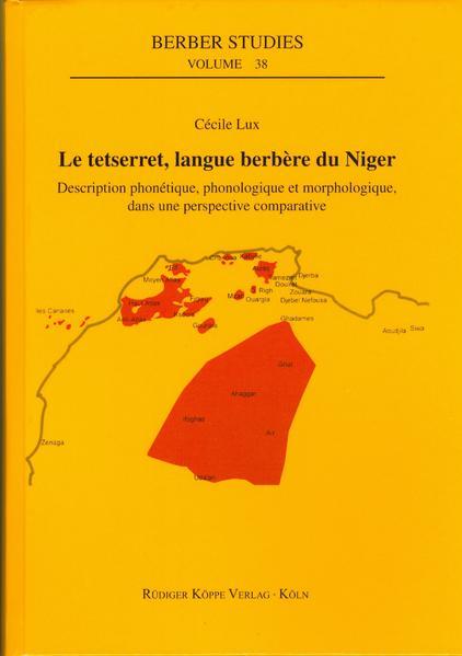 Le tetserret, langue berbère du Niger - Coverbild