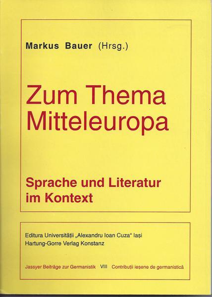 Zum Thema Mitteleuropa: Sprache und Literatur im Kontext - Coverbild