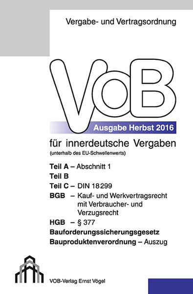 VOB Fassung 2016 für innerdeutsche Vergaben von Eckhard Frikell PDF Download