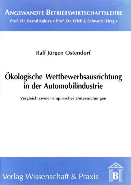 Ökologische Wettbewerbsausrichtung in der Automobilindustrie - Coverbild