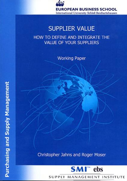 Supplier Value - Coverbild