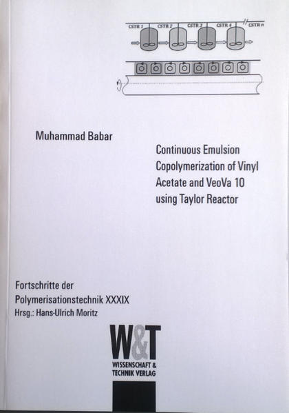 Continuous Emulsion Copolymerization of Vinyl Acetate and VeoVa 10 using Taylor Reactor - Coverbild