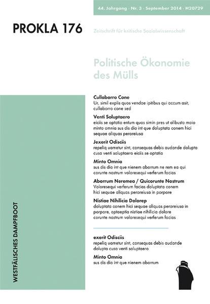 Politische Ökonomie des Mülls - Coverbild