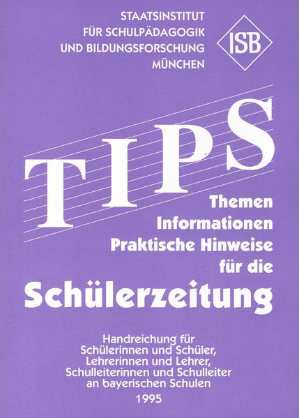 TIPS für die Schülerzeitung - Coverbild