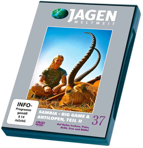 Sambia - Big Game & Antilopen,Teil 2 - JAGEN WELTWEIT DVD Nr. 37 - Coverbild