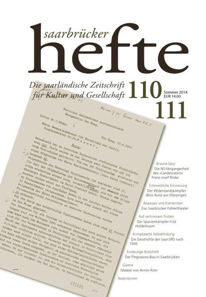 Saarbrücker Hefte 110/111 - Coverbild