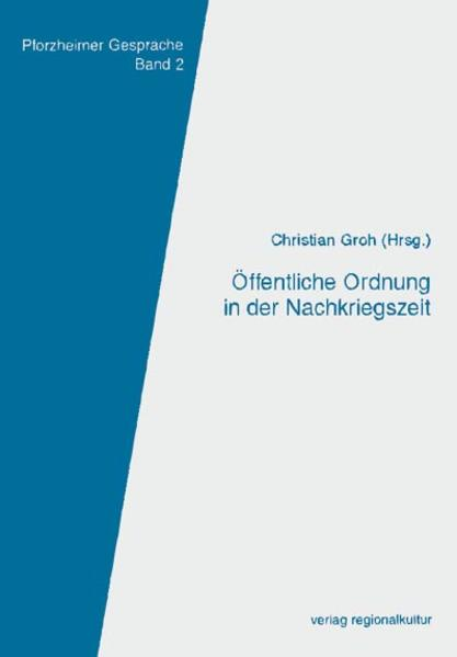 Öffentliche Ordnung in der Nachkriegszeit - Coverbild