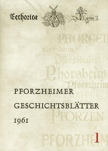 Pforzheimer Geschichtsblätter. Folge I - Coverbild