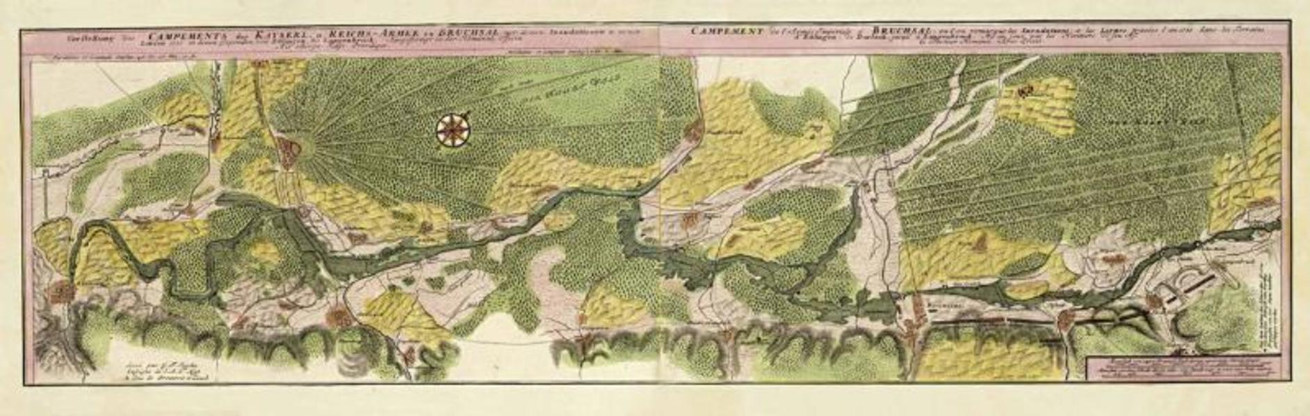 Vorstellung des Campements der Kayserl. U. Reichsarmee zu Bruchsal - Coverbild